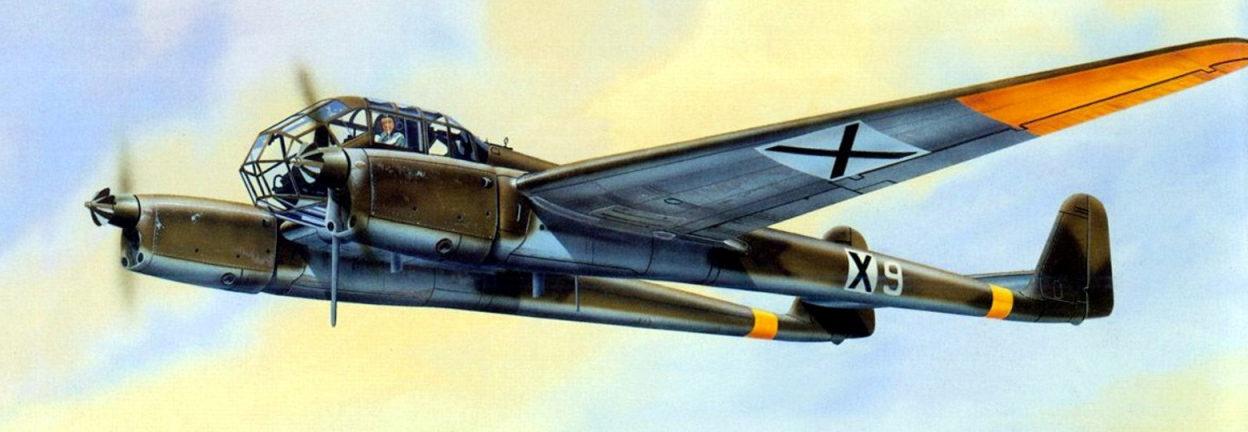 Greer Don. Разведчик-корректировщик Fw-189A-1.