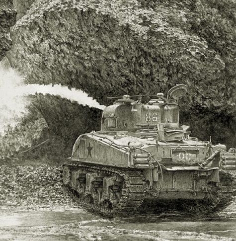 Harmon Jody. Огнеметный танк Sherman.