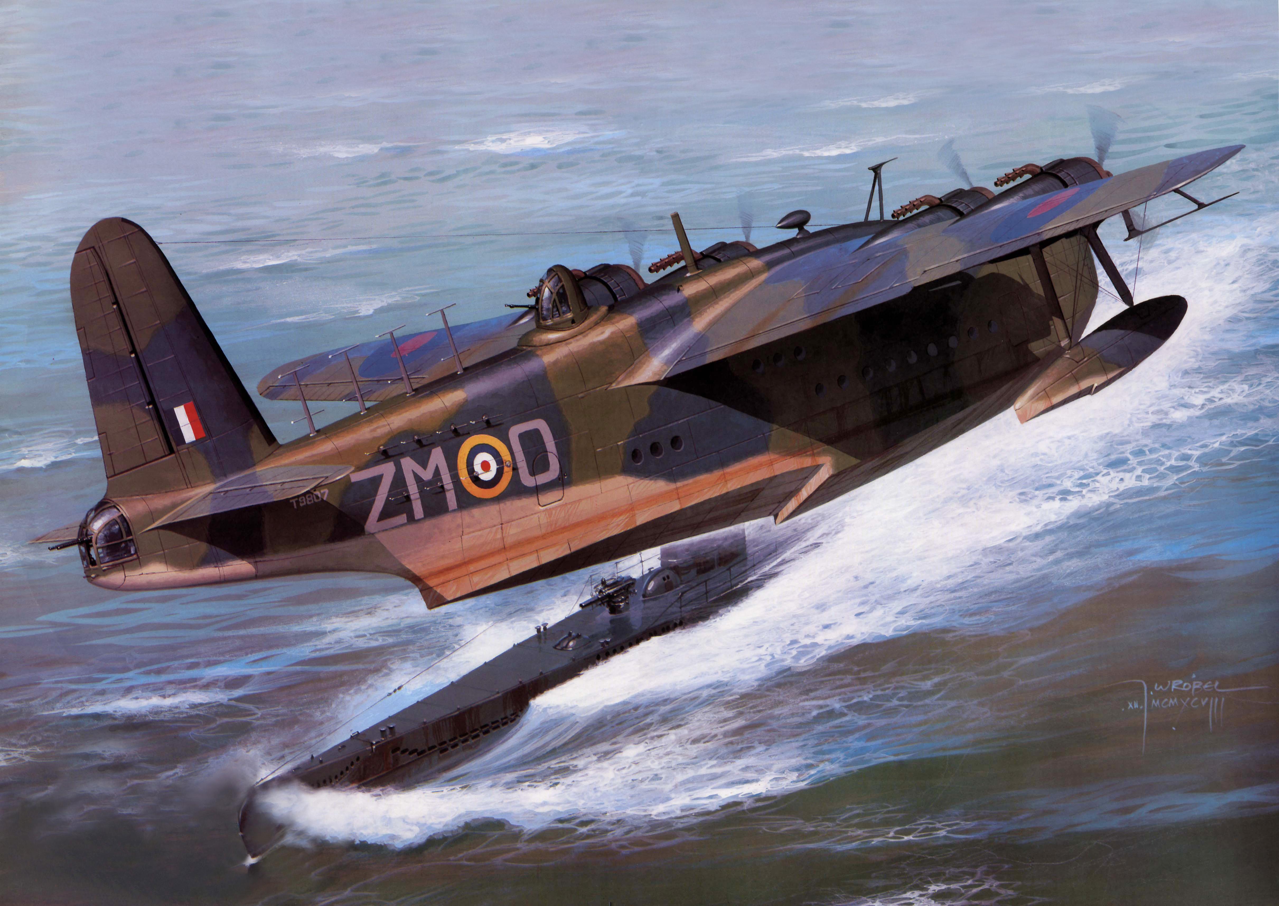 Wrobel Jaroslaw. Гидросамолет Short Sunderland Mk II.