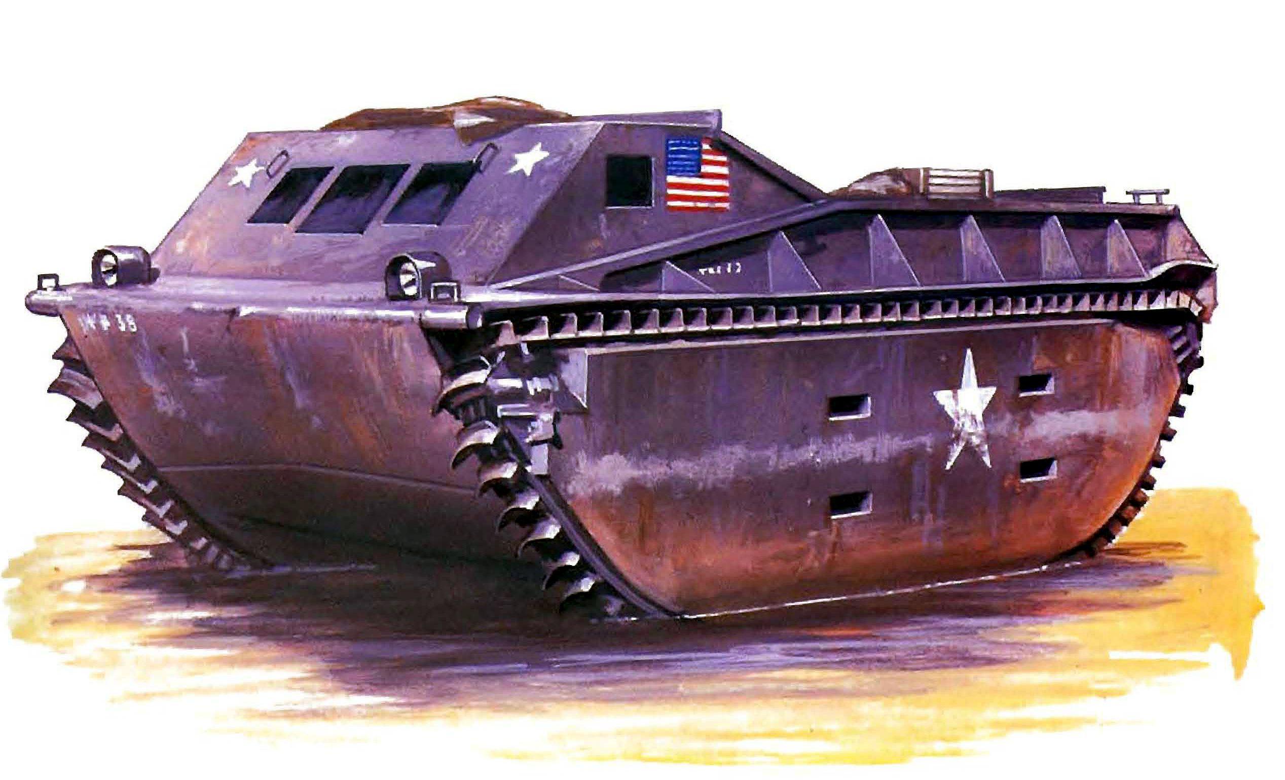 Hadler Terry. Десантный бот LVT-1.