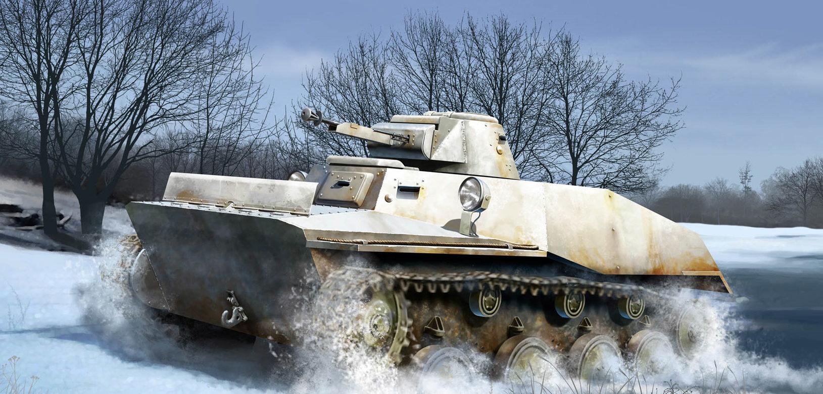 Auletta Vincenzo. Плавающий танк Т-40.