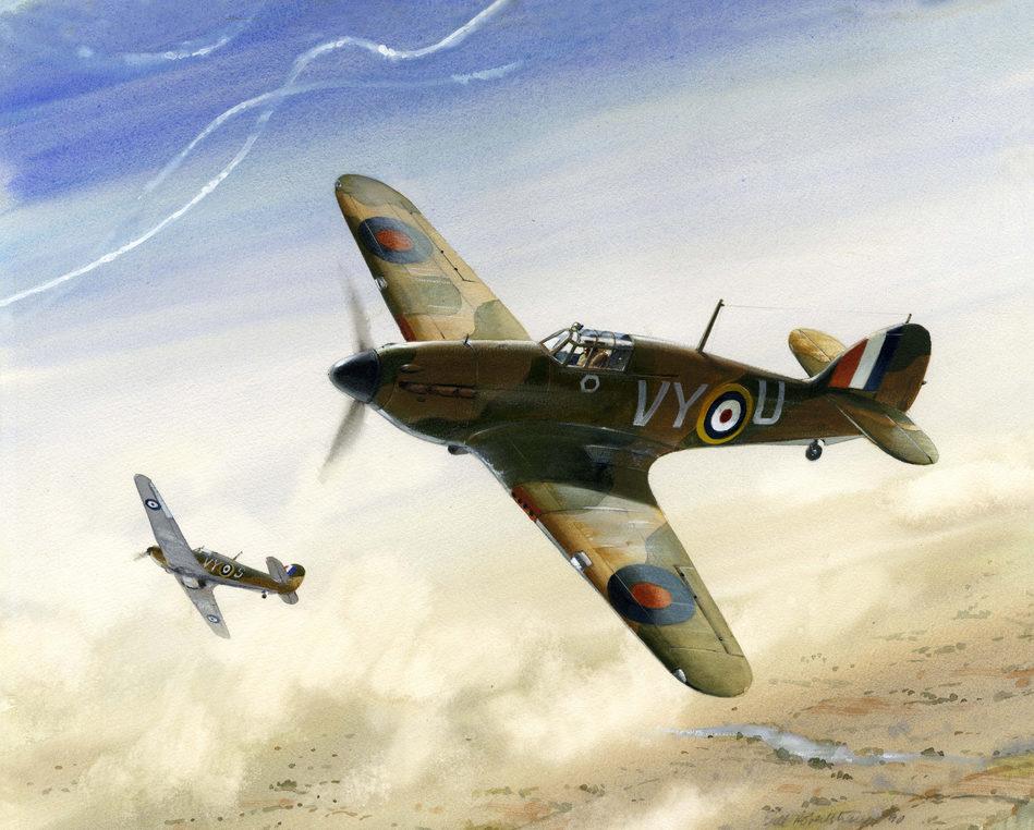 Robertshaw Bill. Истребители Hawker Hurricanes.