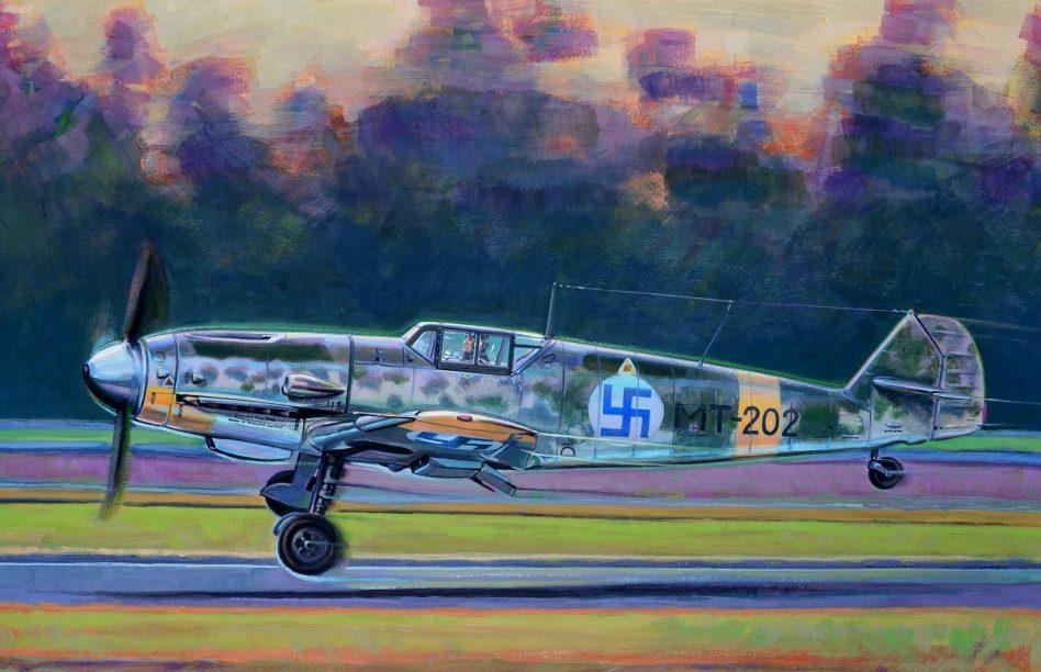 Dubowik Piotr. Истребитель Bf-109G.