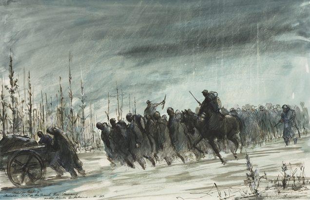 Moore Alan. Австралийских военнопленных на марше через Германию.