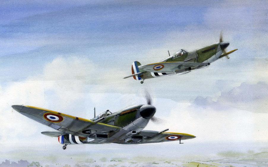 Robertshaw Bill. Истребители Spitfires.