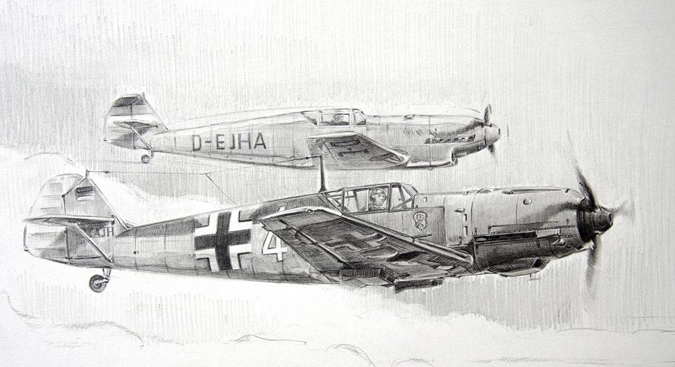 Dubowik Piotr. Истребитель Bf-109Е.