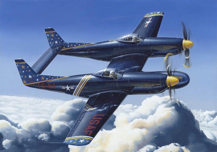 Kolacha Zbigniew. Двухместный истребитель P-82 Twin Mustang.
