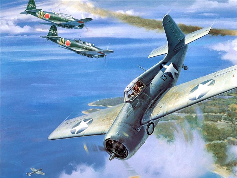 Grinell Roy. Воздушный бой.