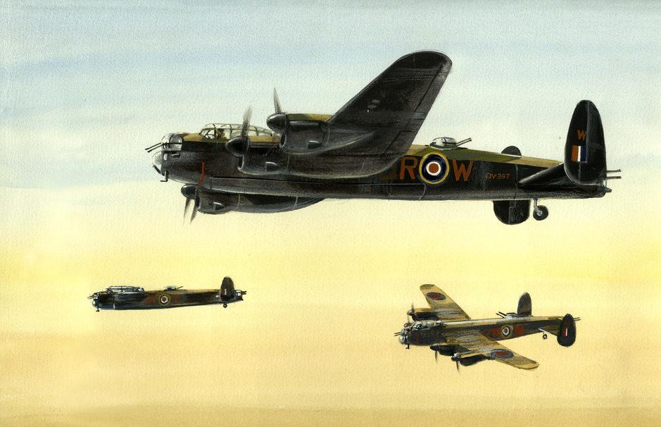 Robertshaw Bill. Бомбардировщики Lancaster.