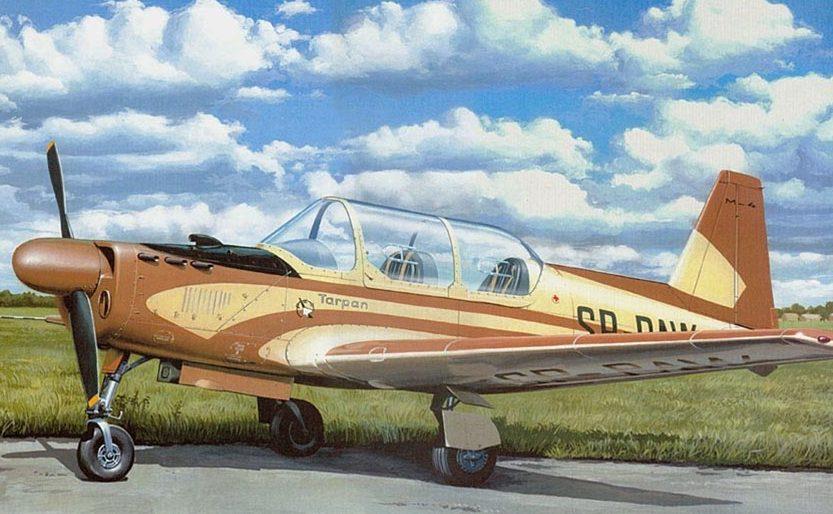 Kolacha Zbigniew. Учебно-тренировочный самолет PZL M-4 Tarpan.