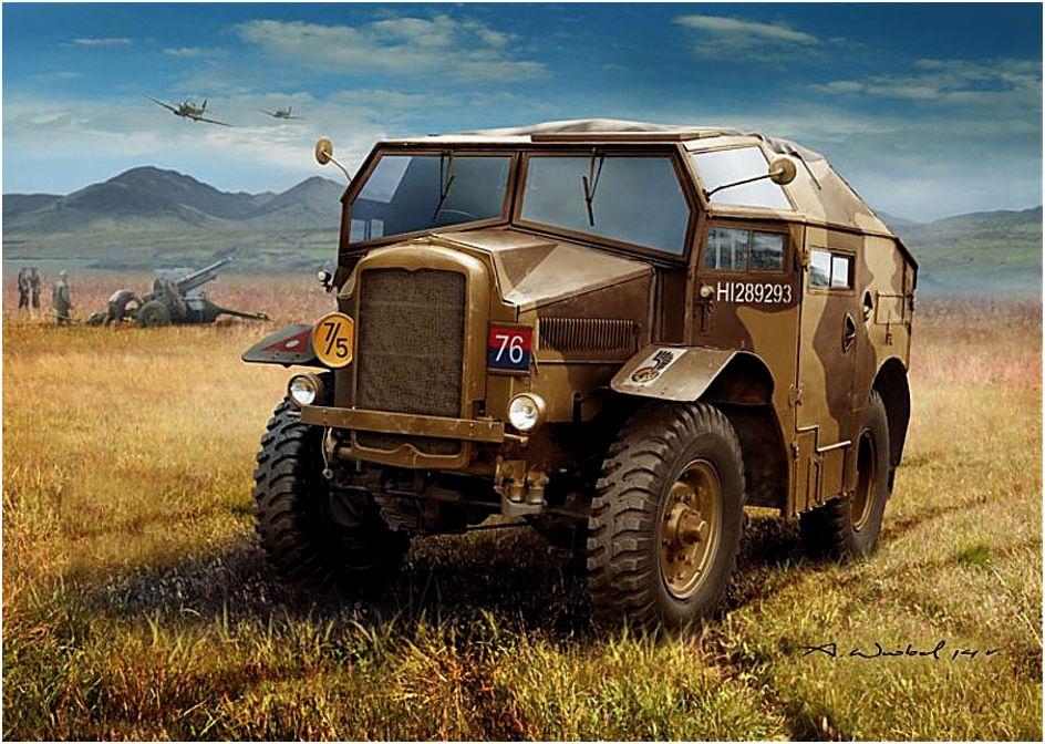 Wróbel Arkadiusz. Внедорожник Morris C8 Quad Mk.III.
