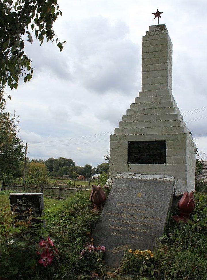 с. Помокли Переяслав-Хмельницкого р-на. Памятник, установленный в 1965 году на братской могиле воинов, погибших в годы войны.