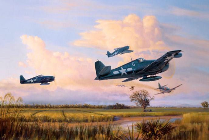 Laurier Jim. Истребители Grumman F-6F.