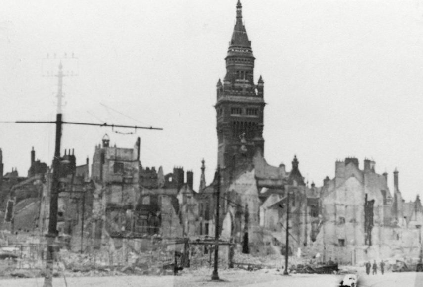 Разрушенный Дюнкерк. Июнь, 1940 г.