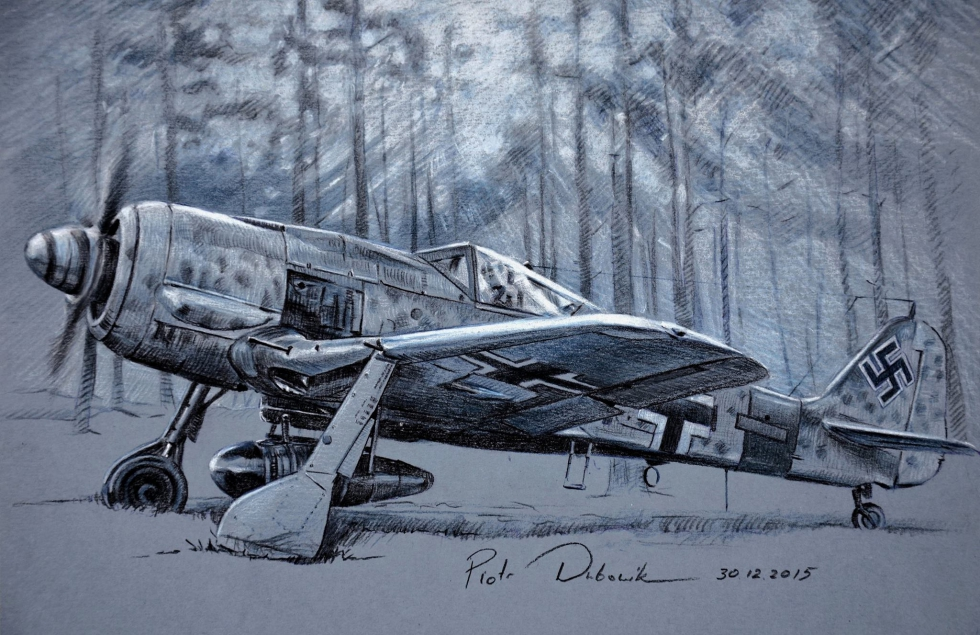 Dubowik Piotr. Истребитель Fw-190A.