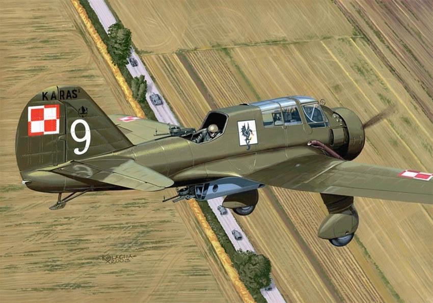 Kolacha Zbigniew. Истребитель PZL P-23 Karas.