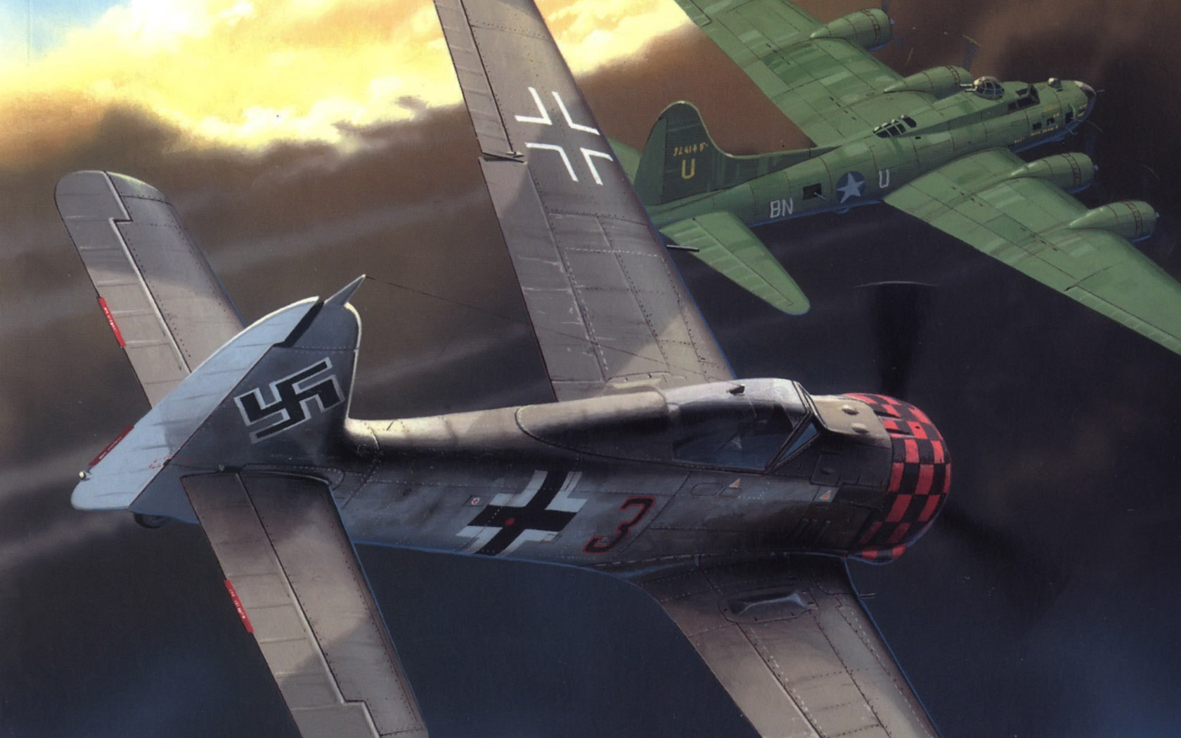 Wróbel Arkadiusz. Истребитель Fw-190.