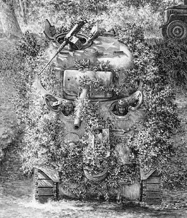 Harmon Jody. Замаскированный танк Sherman.