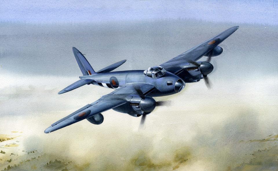 Robertshaw Bill. Тяжелый истребитель Havilland Mosquito.
