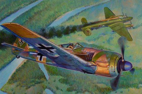Dubowik Piotr. Истребитель «Fw-190A4» и бомбардировщик «Pe-2».