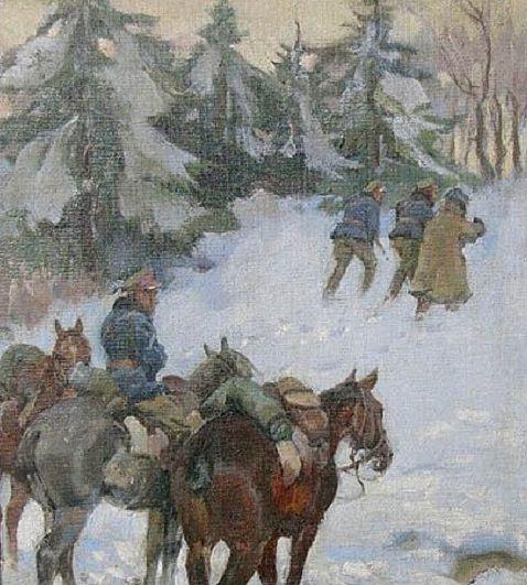 Kossak Wojciech. Кавалерийская разведка.