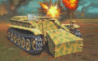 Maio Enzo. Телетанкетка Borgward IV Ausf. A.