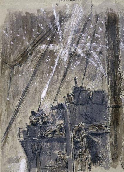 Norton Frank. Атака камикадзе на крейсер «Westralia».