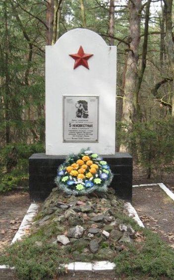 Братская могила возле ДОТа №107.