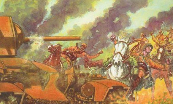 Parducci Alberto. Кавалерийская атака. Эфиопия.