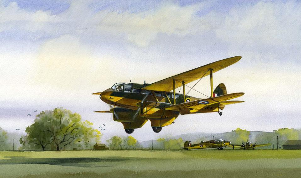 Robertshaw Bill. Транспортный самолет DH 89 Dragon Rapide.