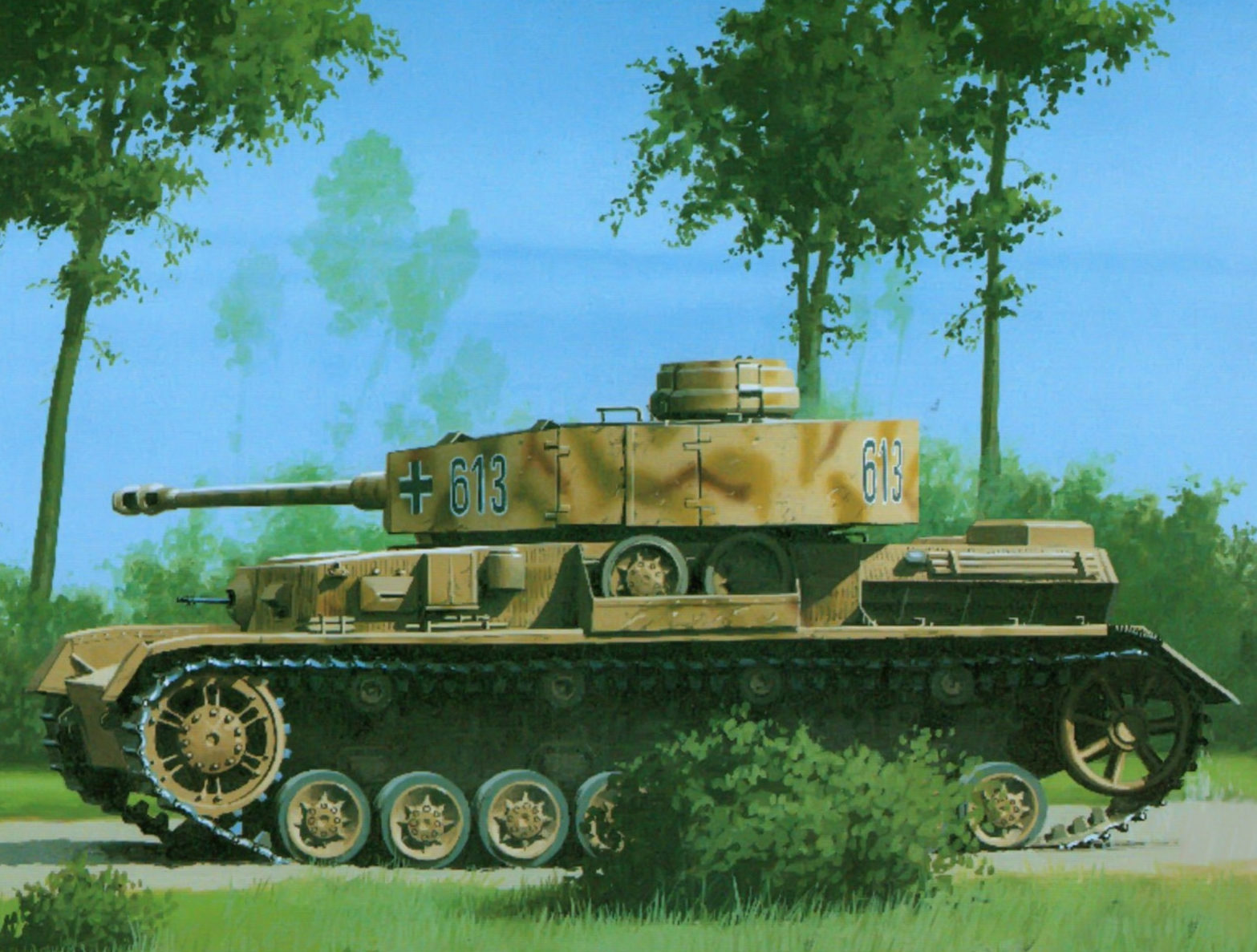 Wróbel Arkadiusz. Танк PzKpfw IV Ausf. H.