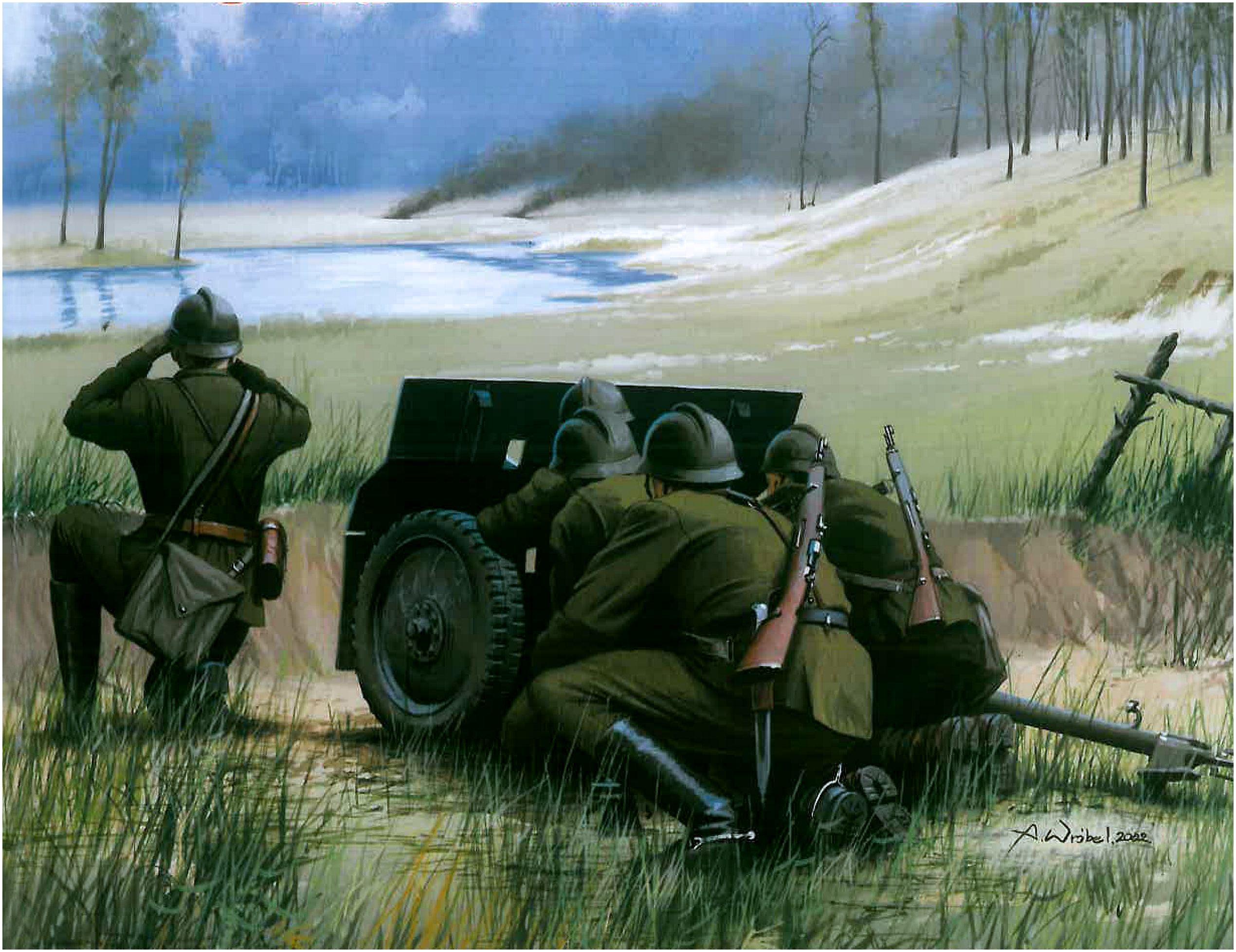 Wróbel Arkadiusz. Польские артиллеристы.