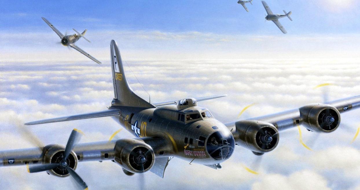 Denardo Domenic. Атака на бомбардировщик В-17F.