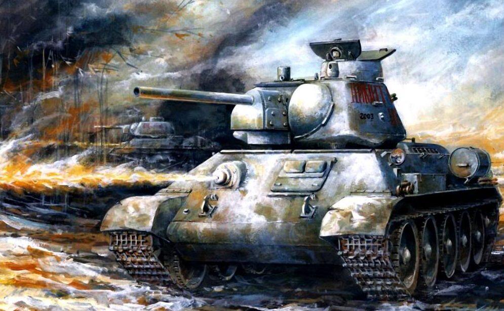 Jameson. Огнеметный танк OT-34/76.