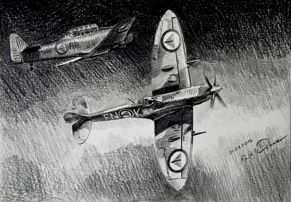 Dubowik Piotr. Истребитель Supermarine Spitfire Mk.IX.