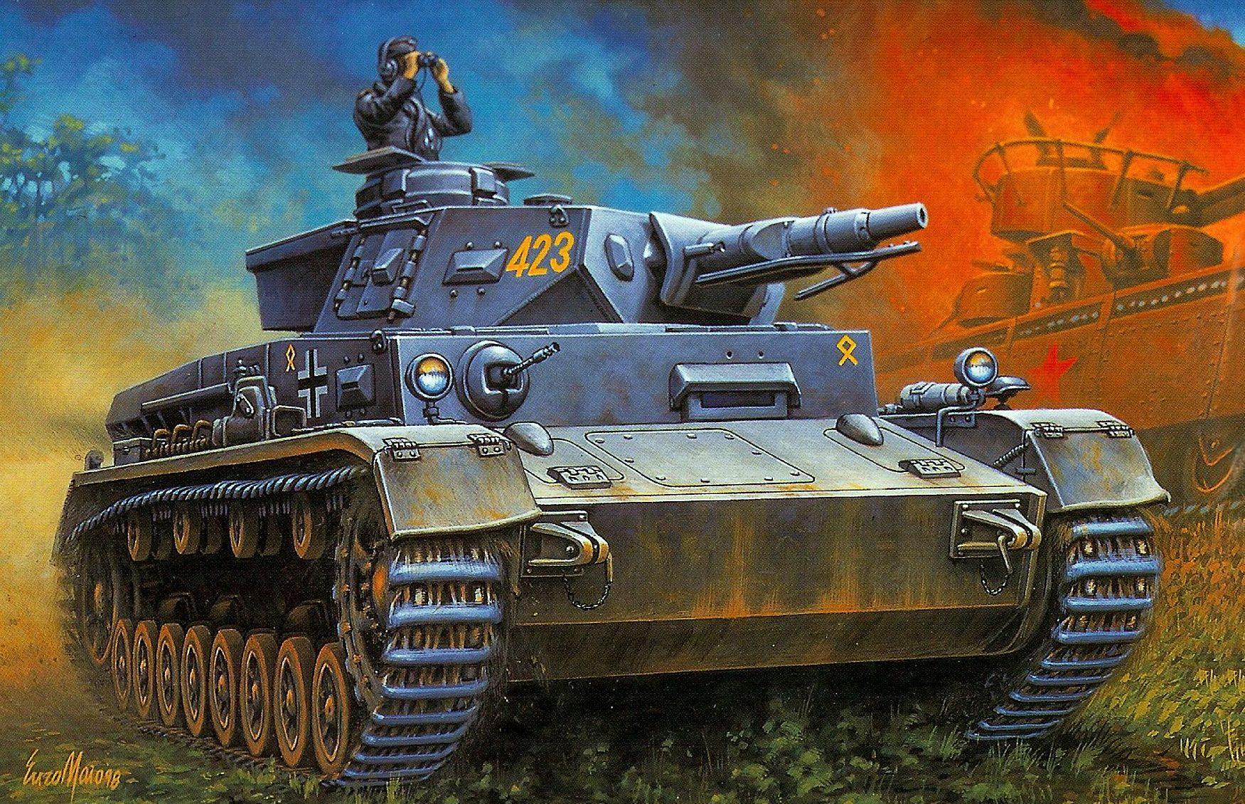 Maio Enzo. Танк Pz.Kpfw. IV Ausf. F1.