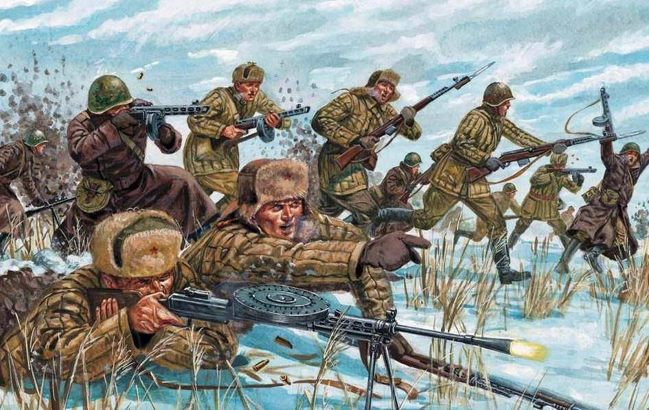 Rava Giuseppe. Советская пехота атакует.