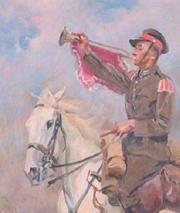 Kossak Wojciech. Горнист полка.