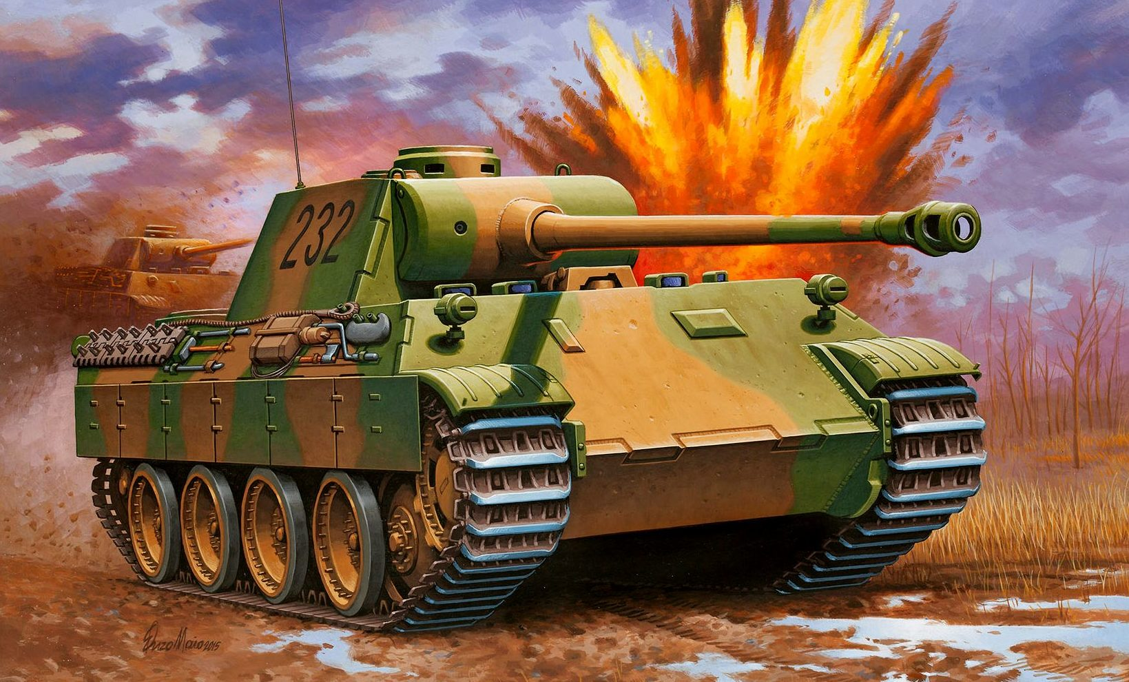 Maio Enzo. Танк Panther Ausf. D.