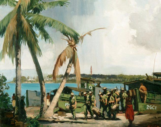 Hanke Henry. Высадка на берег. Новая Гвинея.