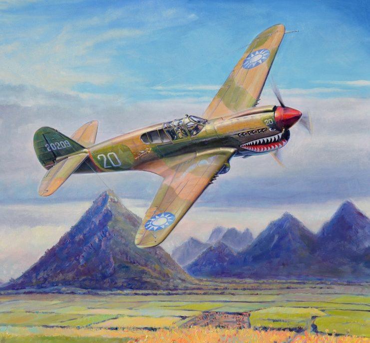 Dubowik Piotr. Истребитель P-40Е.