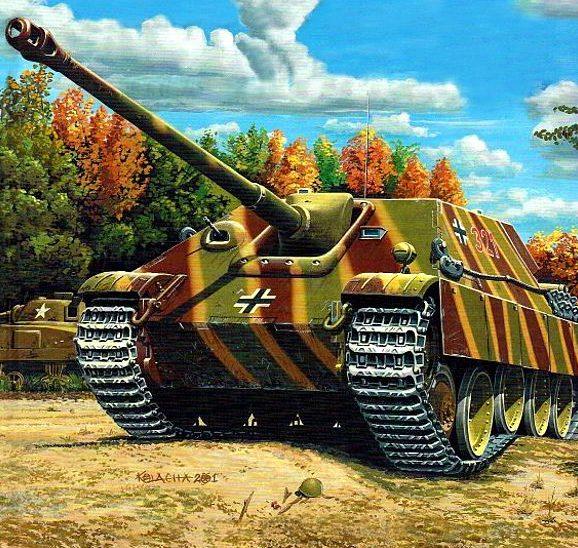 Kolacha Zbigniew. САУ Jagdpanther.