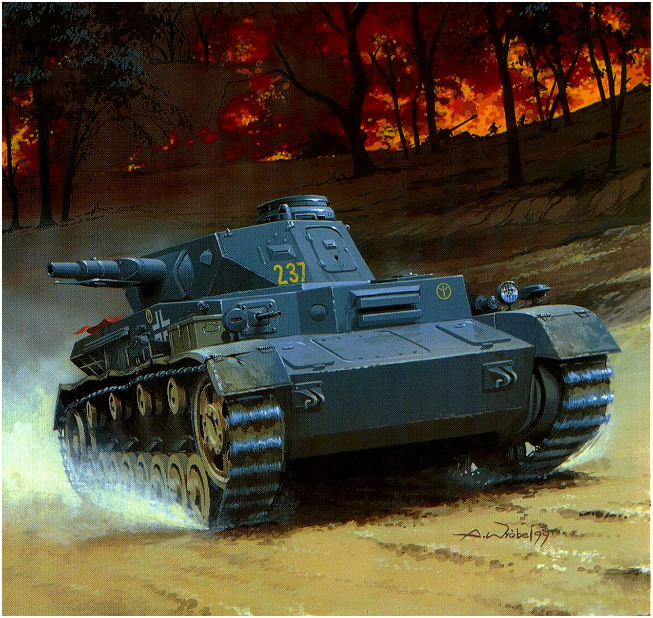 Wróbel Arkadiusz. Танк Panzer IV Ausf. D.