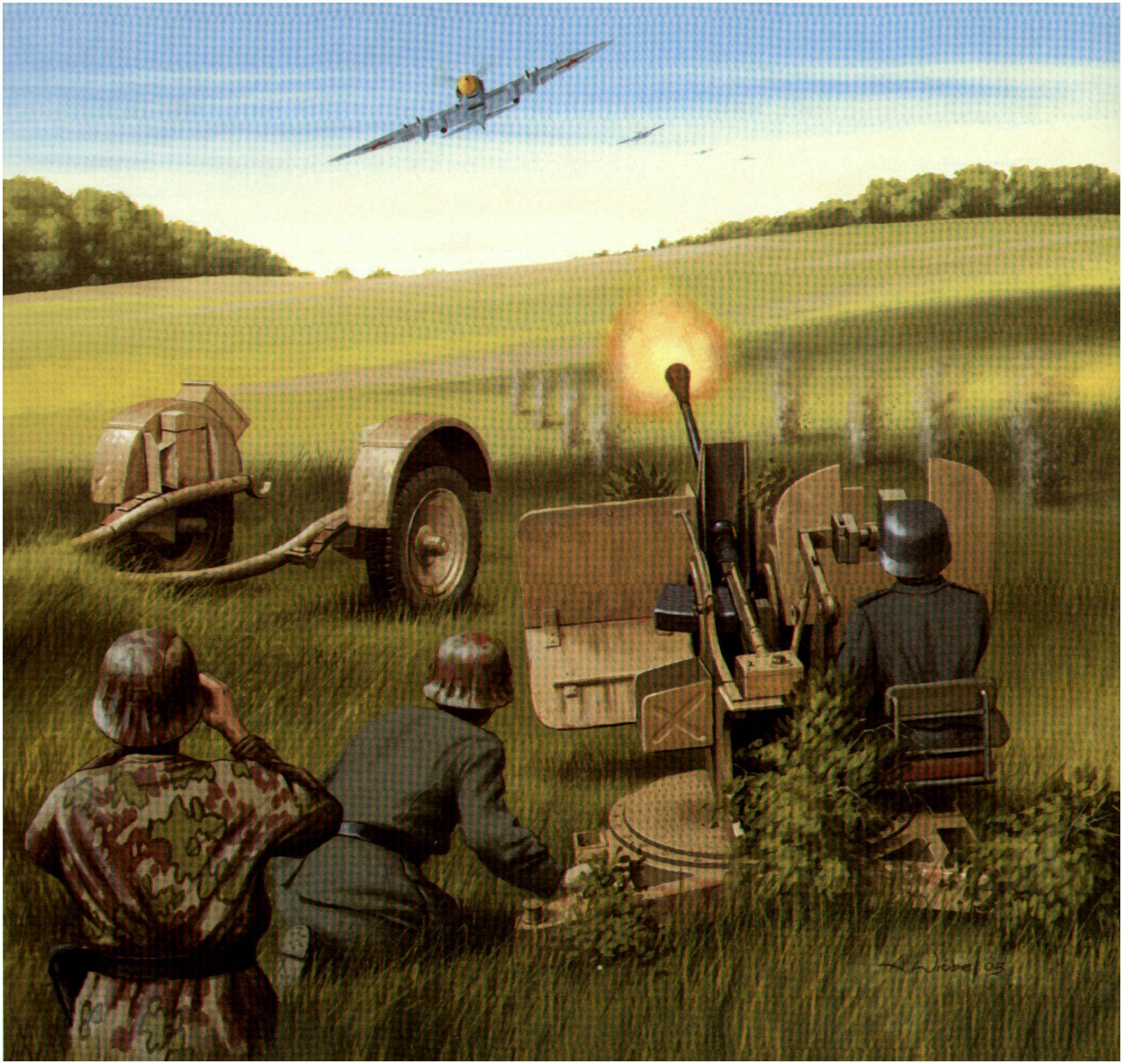 Wróbel Arkadiusz. Зенитное орудие 20mm Flak 38.