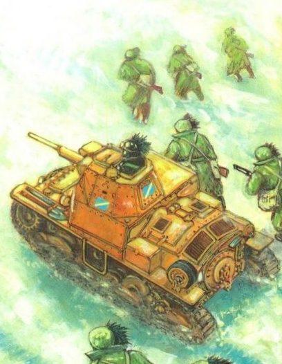 Parducci Alberto. Атака танков.