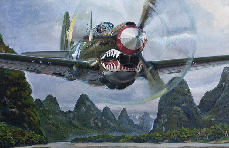 Dubowik Piotr. Истребитель P-40N.