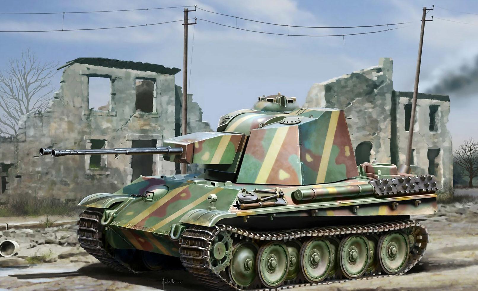 Auletta Vincenzo. ЗСУ 5.5cm Zwilling Flakpanzer.