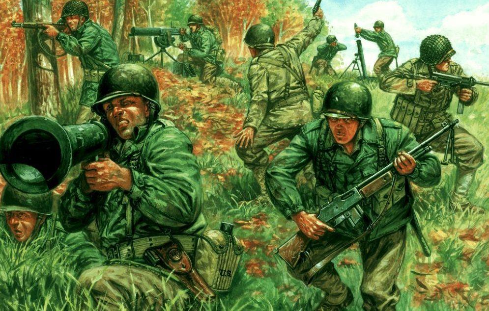 Rava Giuseppe. Американская пехота.
