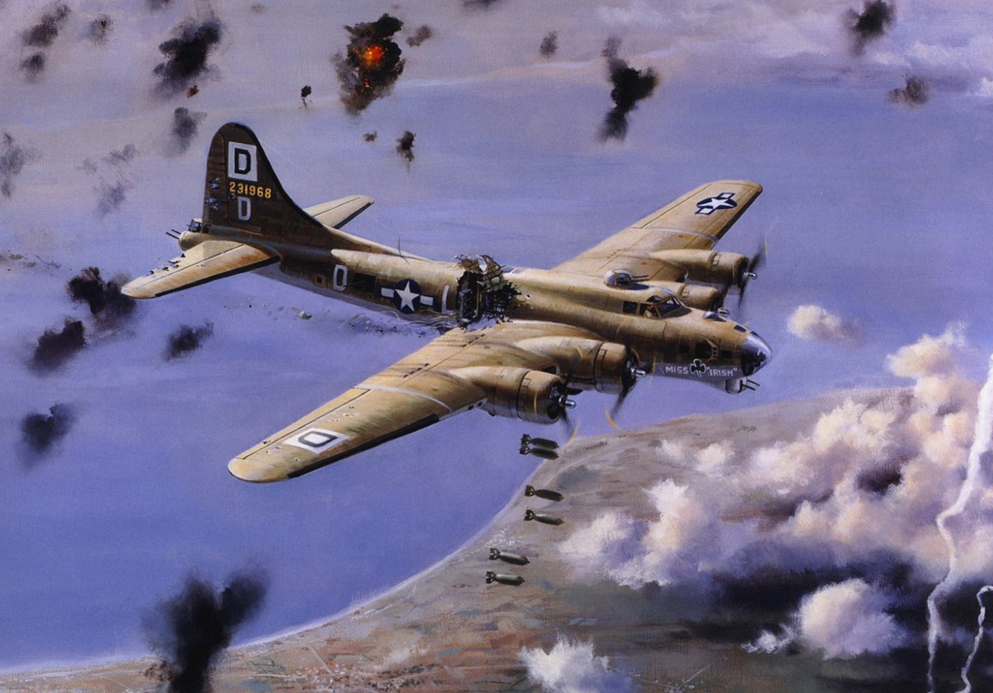 Galloway Nixon. Бомбардировщик В-17.