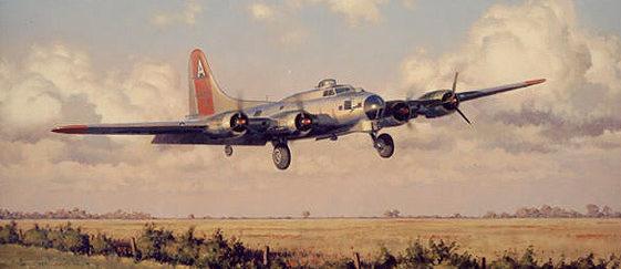 Woodcock Keith. Бомбардировщик В-17.
